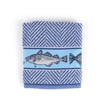Keukendoek Bunzlau Castle Fish Royal Blue