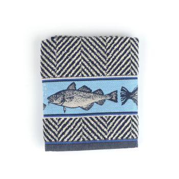 Keukendoek Bunzlau Castle Fish Dark Blue