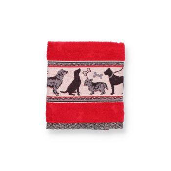 Keukendoek Bunzlau Castle Dogs Red Topshot