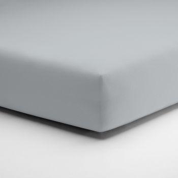 Hoeslaken Schlafgut Jersey zilver grijs