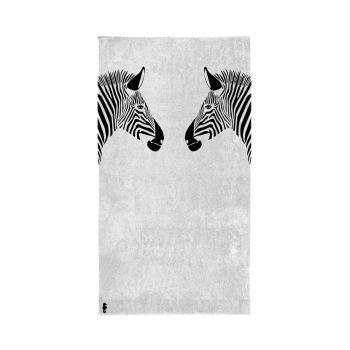 Strandlaken Seahorse Zebra White