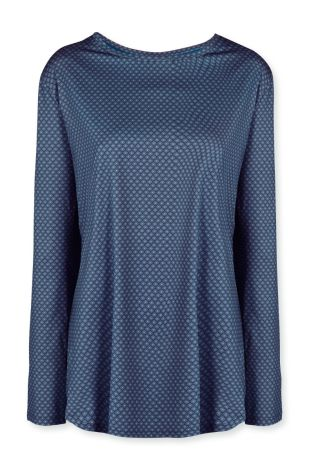 Sport Shirt Lange Mouw Pip Studio Tamar Lace Flower Blue