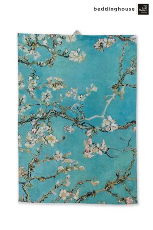 Theedoek Beddinghouse x Van Gogh Museum Blossom Bleu Topshot