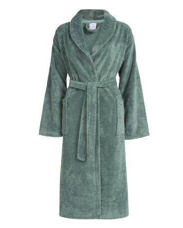 Badjas Vandyck  Beaumont Vintage Green voorzijde