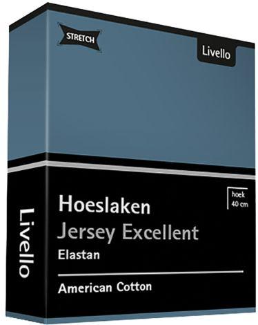 Hoeslaken Livello Jersey Excellent Bleu
