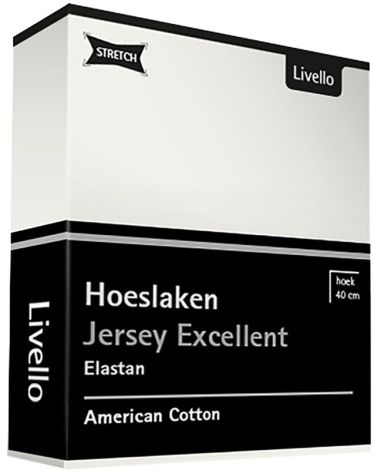 Hoeslaken Livello Stretch Excellent Off White