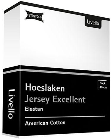 Hoeslaken Livello Jersey Excellent White
