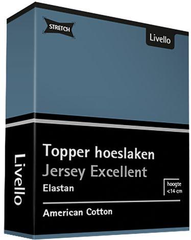 Topper Hoeslaken Livello Stretch Excellent Bleu