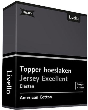 Topper Hoeslaken Stretch Excellent Dark Grey