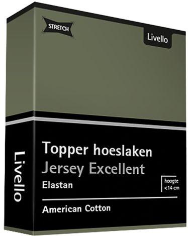Topper Hoeslaken Stretch Excellent Green