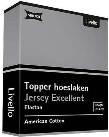 Topper Hoeslaken Stretch Excellent Light Grey