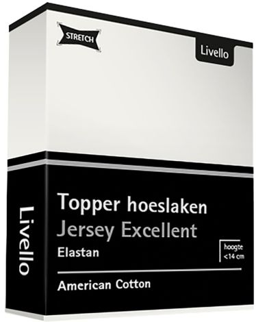 Topper Hoeslaken Livello Stretch Excellent Off White