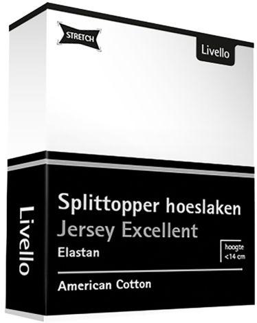Splittopper Hoeslaken Livello Excellent Jersey White
