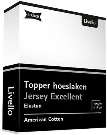 Topper Hoeslaken Livello Jersey Stretch White